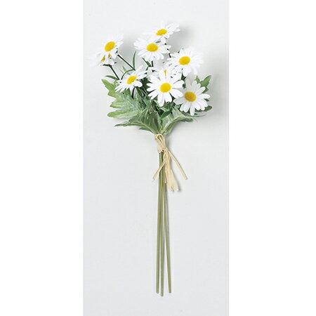【造花】アスカ/マーガレットデージーバンチ(1束3本) #001 ホワイト/A-33397-1《 造花(アーティフィシャルフラワー) 造花 花材「た行」 デージー 》