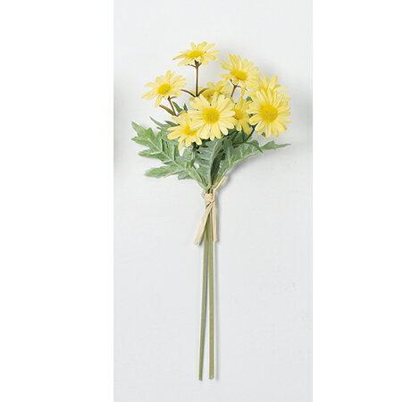 【造花】アスカ/マーガレットデージーバンチ(1束3本) #010 イエロー/A-33397-10【01】【01】【取寄】《 造花(アーティフィシャルフラワー) 造花 花材「た行」 デージー 》