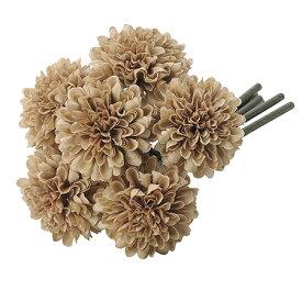 【造花】アスカ/ポンポンマムバンチ(1束6本) #028 ブラウン/A-33164-28【01】【01】【取寄】《 造花(アーティフィシャルフラワー) 造花 花材「か行」 キク(菊)・ピンポンマム 》
