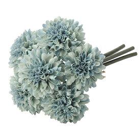 【造花】アスカ/ポンポンマムバンチ(1束6本) #019B パウダーブルー/A-33164-19【01】【01】【取寄】《 造花(アーティフィシャルフラワー) 造花 花材「か行」 キク(菊)・ピンポンマム 》