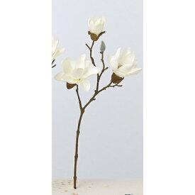【造花】アスカ/マグノリア×3 つぼみ×1 #011 クリームホワイト/A-33255-11【01】【取寄】