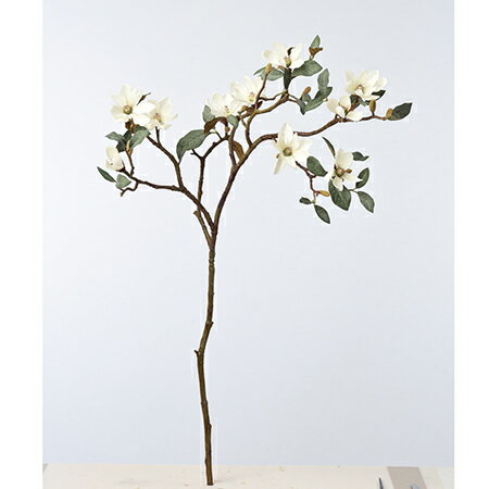 【造花】アスカ/マグノリア×10 つぼみ×16 #011 クリームホワイト/A-33363-11【01】【01】【取寄】《 造花(アーティフィシャルフラワー) 造花 花材「ま行」 モクレン(木蓮)・マグノリア 》