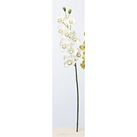 【造花】アスカ/シンビジューム×9 つぼみ×2 NO.001 ホワイト/A-33336-1【01】【取寄】《 造花(アーティフィシャルフラワー) 造花 花材「さ行」 シンビジューム 》