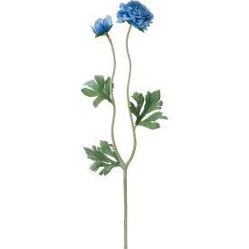 【造花】YDM/フラッフィーラナンキュラス ブルー/FA-7056-BL【01】【01】【取寄】《 造花(アーティフィシャルフラワー) 造花 花材「ら行」 ラナンキュラス 》
