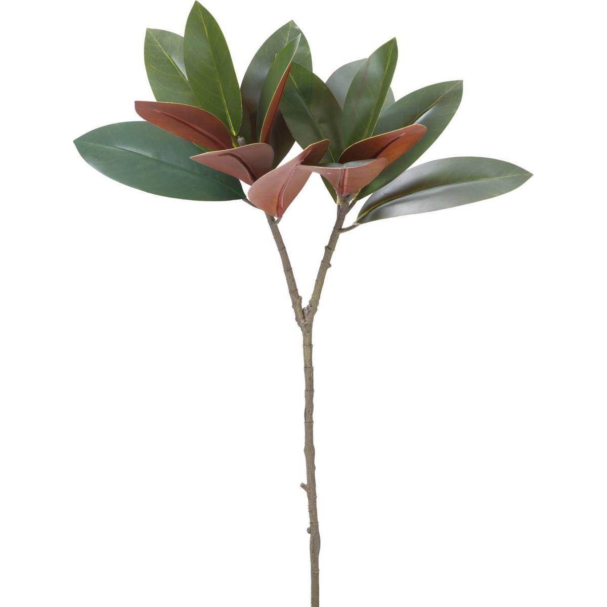 【造花】YDM/マグノリアリーフブランチ グリーン/FG-4880-GR【01】【01】【取寄】《 造花(アーティフィシャルフラワー) 造花 花材「ま行」 モクレン(木蓮)・マグノリア 》