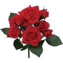 【造花】YDM/ローズブッシュ レッド/FB-MB001-R【01】【取寄】《 造花(アーティフィシャルフラワー) 造花 花材「は行」 バラ 》