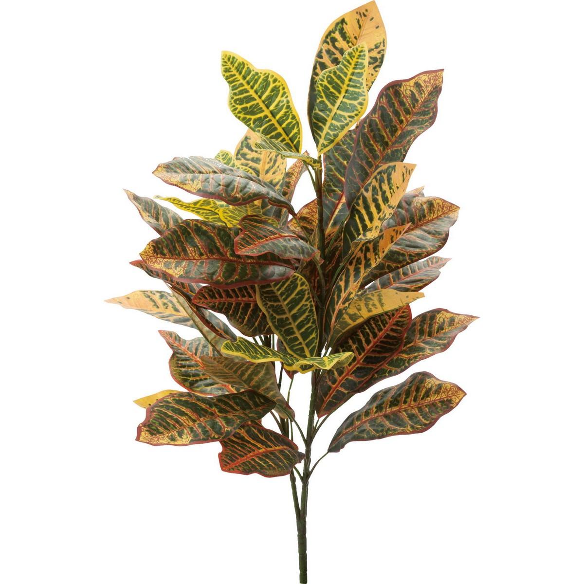 【造花】YDM/ビッグクロトンブッシュ イエローグリーン/GL-5180-Y/G【01】【01】【取寄】《 造花(アーティフィシャルフラワー) 造花葉物、フェイクグリーン その他の造花葉物・フェイクグリーン 》