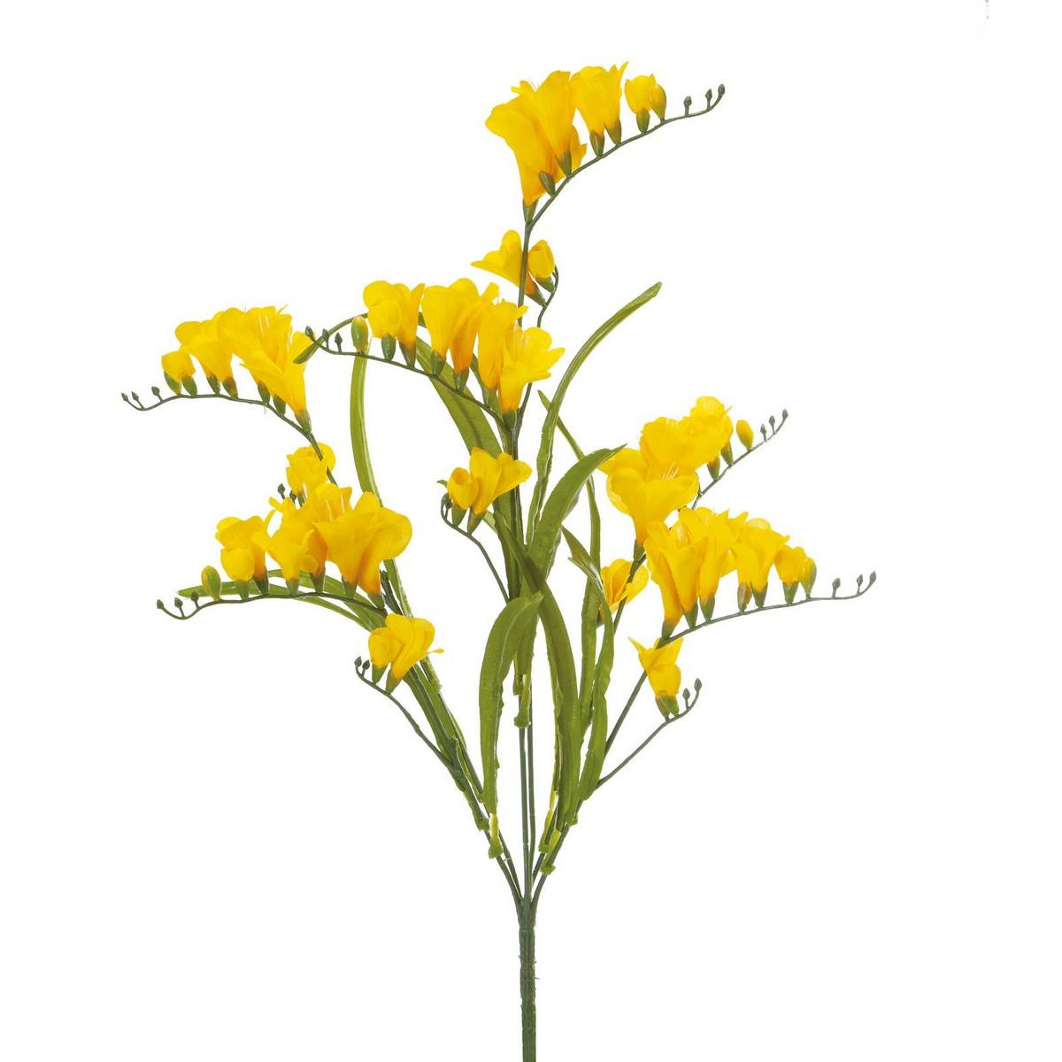 【造花】YDM/フリージアブッシュ イエロー/FS-MB003-Y【01】【01】【取寄】《 造花(アーティフィシャルフラワー) 造花 花材「は行」 フリージア 》