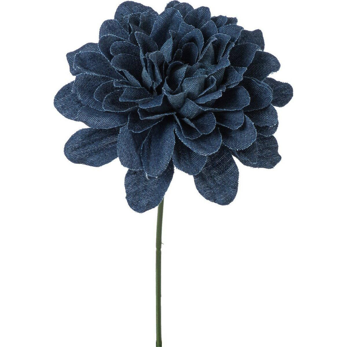 【造花】YDM/デニムダリアピック ブルー/FA-7180-BLU【01】【取寄】《 造花(アーティフィシャルフラワー) 造花 花材「た行」 ダリア 》