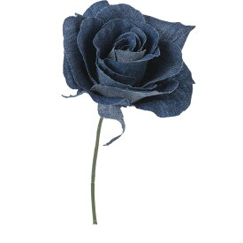 【造花】YDM/デニムローズピック ブルー/FA-7181-BLU【01】【01】【取寄】《 造花(アーティフィシャルフラワー) 造花 花材「は行」 バラ 》