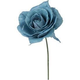 【造花】YDM/デニムローズピック ライトブルー/FA-7181-LBL【01】【01】【取寄】《 造花(アーティフィシャルフラワー) 造花 花材「は行」 バラ 》