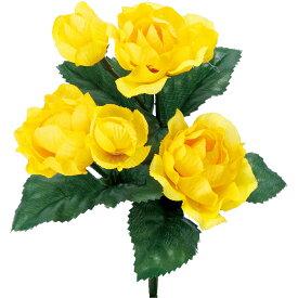 【造花】YDM/ラナンキュラスブッシュ イエロー/FB -2489-Y【01】【01】【取寄】《 造花(アーティフィシャルフラワー) 造花 花材「ら行」 ラナンキュラス 》