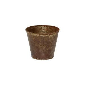 丸和貿易/フラワーテイラーズ ポット#3.5 ラスティー/400843502【01】【取寄】[2個]花器、リース 花器・花瓶 ブリキ・アイアン・アルミ花器 手作り 材料