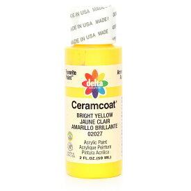 Delta Ceramcoat/セラムコート アクリルペイント絵具 59ml Bright Yellow/2027【01】【取寄】