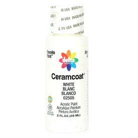 Delta Ceramcoat/セラムコート アクリルペイント絵具 59ml White/2505【01】【取寄】《 手芸用品 クラフト ペインティング 》