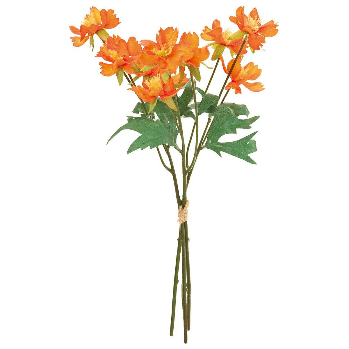 【造花】MAGIQ(東京堂)/フルリールコスモスブーケ #9 ORANGE オレンジ 3本/FM008118-009【01】【取寄】《 造花(アーティフィシャルフラワー) 造花 花材「か行」 コスモス 》