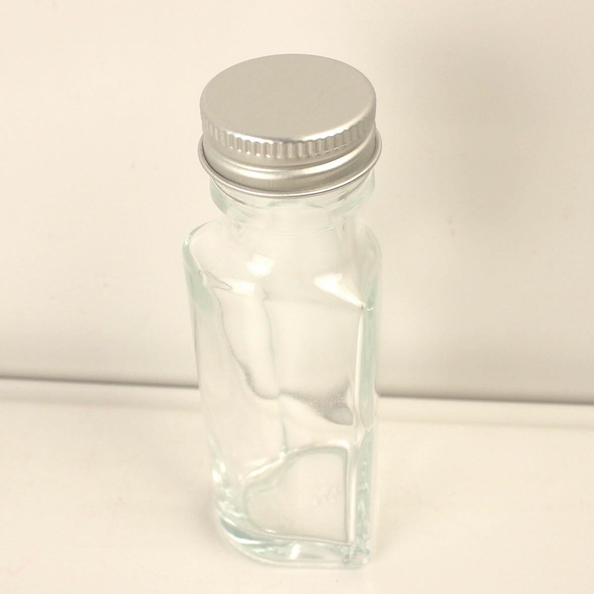 即日 ハーバリウム瓶 (ハート)50ml アルミ銀キャップ付《花資材・道具 ハーバリウム材料 ハーバリウム オイル》