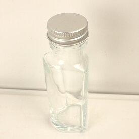 即日 ハーバリウム瓶 (ハート)50ml アルミ銀キャップ付《ハーバリウム 瓶・ボトル ガラス瓶》