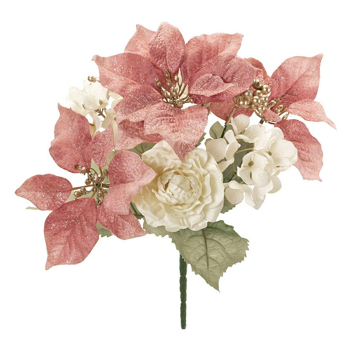 【造花】東京堂(MAGIQ)/フェミールポインミックスブッシュ #42 MAUVE/FX001532-042【01】【取寄】《 造花(アーティフィシャルフラワー) 造花 花材「は行」 ポインセチア 》