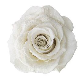 【プリザーブド】アモローサ/ダイヤモンドリンダ 1輪入り プラチナホワイト/1109-01【07】【取寄】