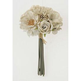 【造花】アスカ/ミックスフラワーブーケ #008B ライトベージュ/A-33472-8B【01】【01】【取寄】《 造花(アーティフィシャルフラワー) 造花 花材「は行」 バラ 》