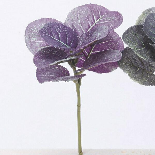 【造花】アスカ/葉ボタン NO.007G パープルグリーン/A-43053-7G【01】【取寄】《 造花(アーティフィシャルフラワー) 造花 花材「は行」 ハボタン(葉牡丹) 》