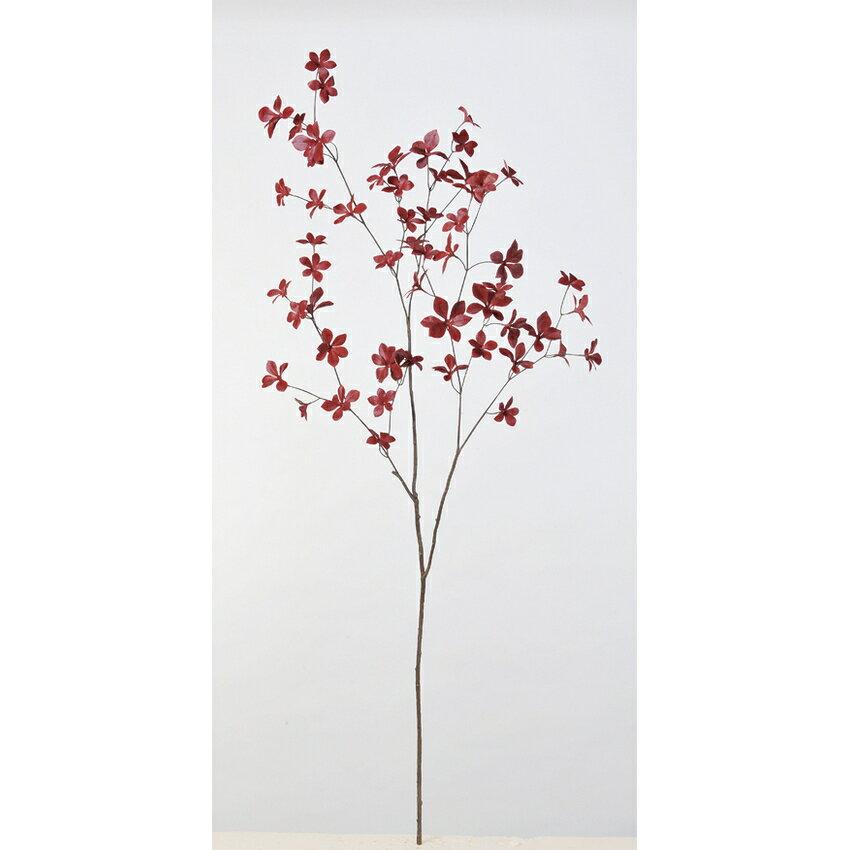 【造花】アスカ/ドウダン #002 レッド/A-43035-2【01】【取寄】《 造花(アーティフィシャルフラワー) 造花枝物 ドウダンツツジ 》