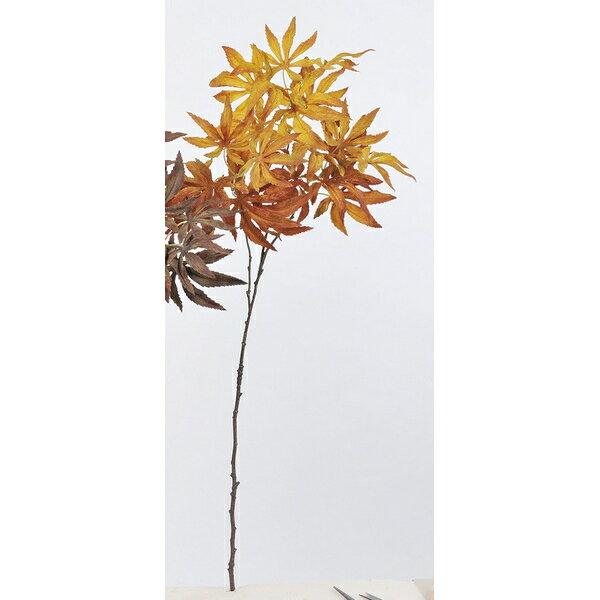 【造花】アスカ/カエデ NO.028O ブラウンオレンジ/A-43046-28O【01】【取寄】《 造花(アーティフィシャルフラワー) 造花枝物 モミジ・イチョウ 》
