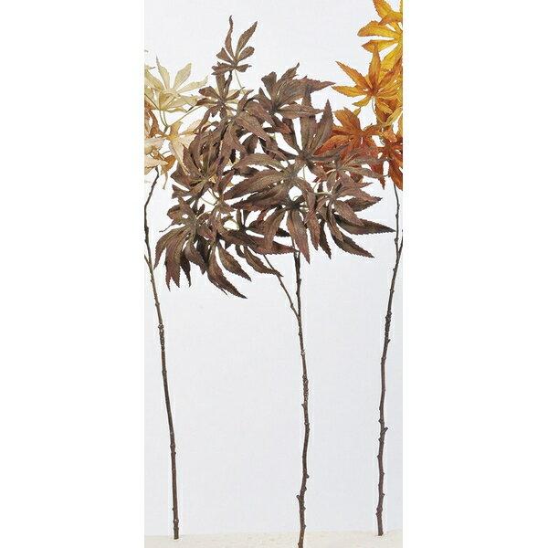 【造花】アスカ/カエデ NO.028C チョコブラウン/A-43046-28C【01】【取寄】《 造花(アーティフィシャルフラワー) 造花枝物 モミジ・イチョウ 》