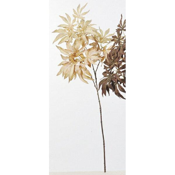 【造花】アスカ/カエデ NO.008 ベージュ/A-43046-8【01】【取寄】《 造花(アーティフィシャルフラワー) 造花枝物 モミジ・イチョウ 》