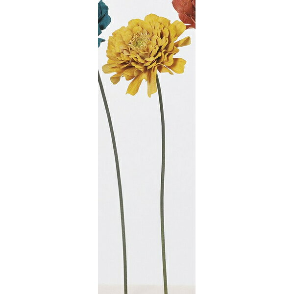 【造花】アスカ/ジニア NO.010M マスタード/A-33505-10M【01】【取寄】《 造花(アーティフィシャルフラワー) 造花 花材「さ行」 ジニア 》