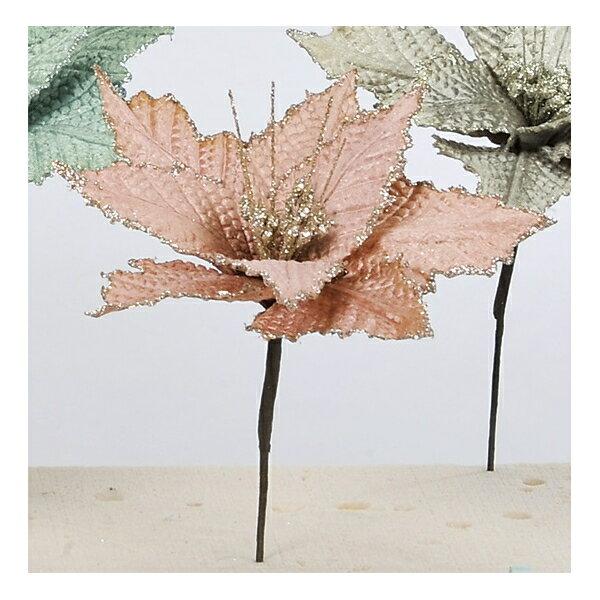 【造花】アスカ/ポインセチアピック #055 モーブ/AX69108-55【01】【取寄】《 造花(アーティフィシャルフラワー) 造花 花材「は行」 ポインセチア 》