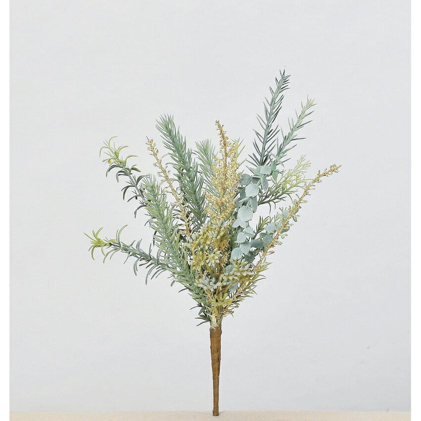 【造花】アスカ/ローズマリーミックスブッシュ/AX69240【01】【取寄】《 造花(アーティフィシャルフラワー) 造花葉物、フェイクグリーン ハーブ 》
