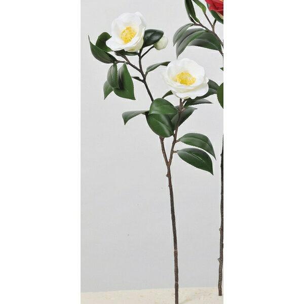 【造花】アスカ/椿×2 つぼみ×1 #001 ホワイト/A-73299-1【01】【取寄】《 造花(アーティフィシャルフラワー) 造花 花材「た行」 ツバキ(椿) 》