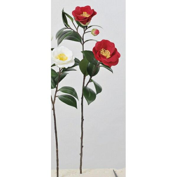 【造花】アスカ/椿×2 つぼみ×1 #002 レッド/A-73299-2【01】【取寄】《 造花(アーティフィシャルフラワー) 造花 花材「た行」 ツバキ(椿) 》