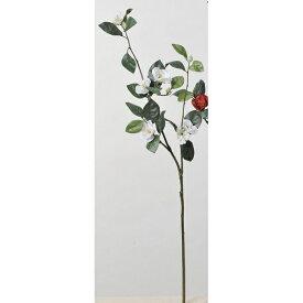 【造花】アスカ/椿×6 つぼみ×5 #001 ホワイト/A-73314-1【01】【01】【取寄】《 造花(アーティフィシャルフラワー) 造花 花材「た行」 ツバキ(椿) 》