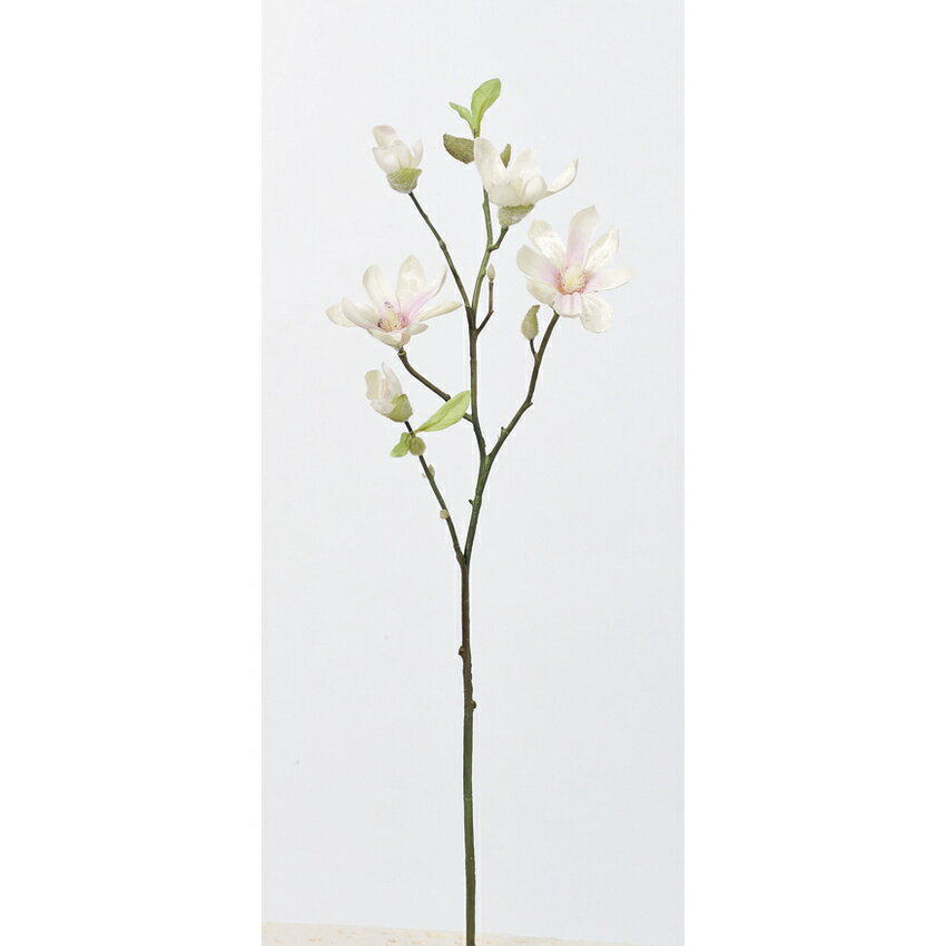 【造花】アスカ/マグノリア×3 つぼみ×4 NO.001P ホワイトピンク/A-73297-1P【01】【取寄】《 造花(アーティフィシャルフラワー) 造花 花材「ま行」 モクレン(木蓮)・マグノリア 》