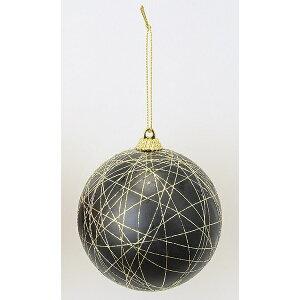 アスカ/ボールオーナメント #100 ブラック/A-72119-100【01】【取寄】店舗ディスプレイ クリスマス飾り ボールオーナメント 手作り 材料