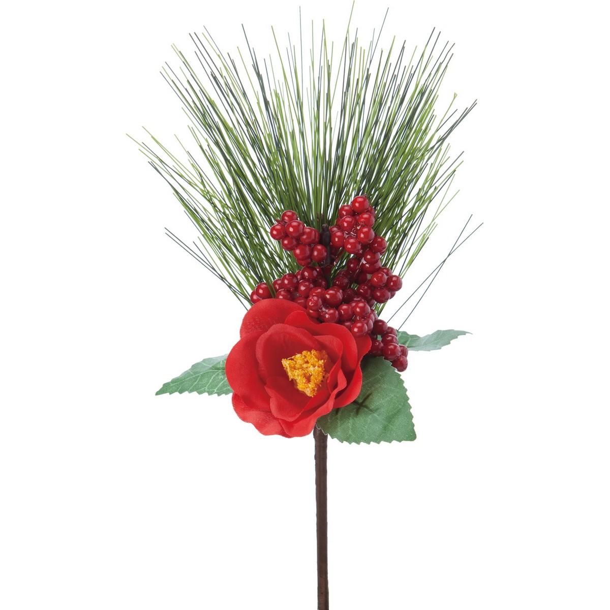 即日 【造花】YDM/ツバキミックスピック/FS-5105R《 造花(アーティフィシャルフラワー) 造花 花材「た行」 ツバキ(椿) 》