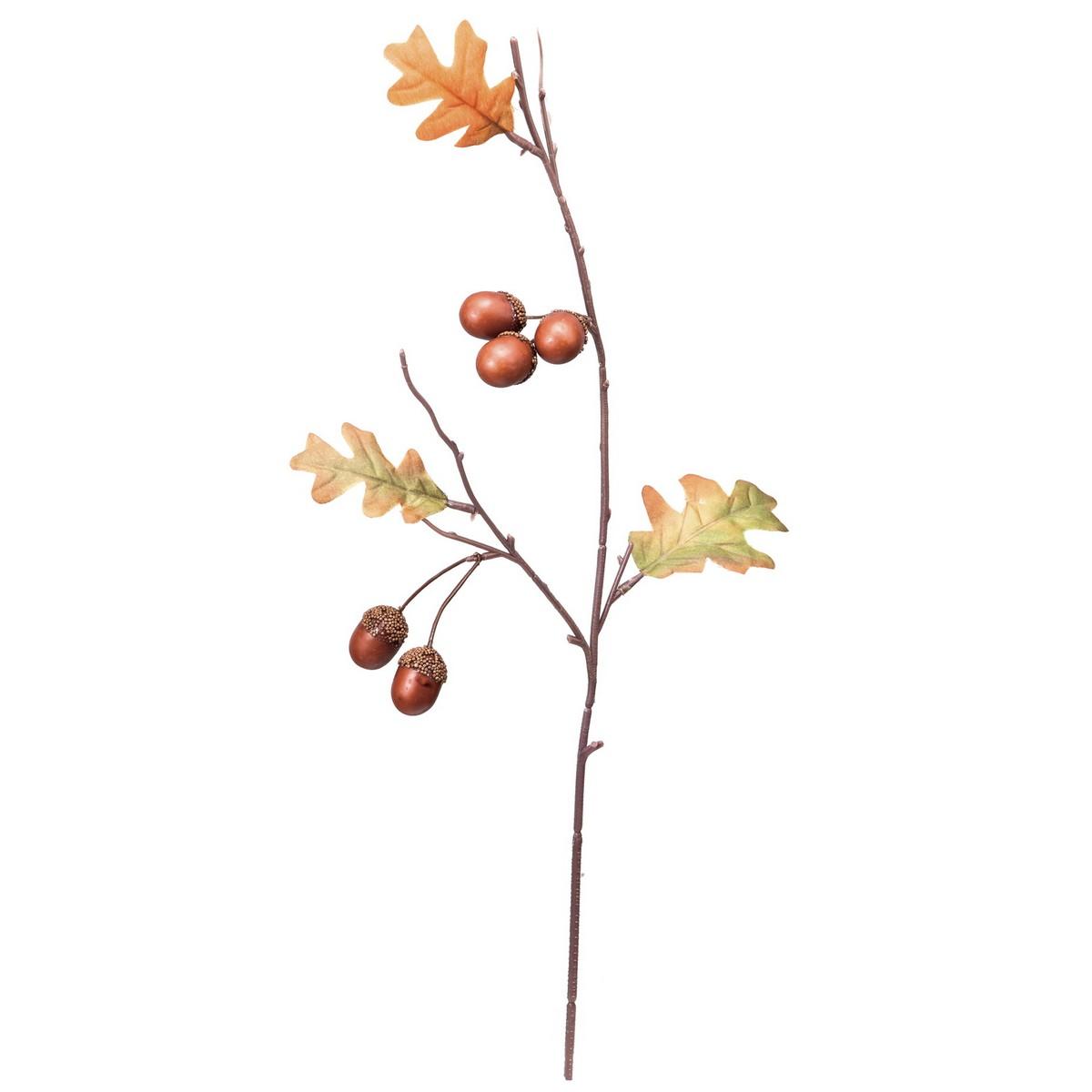 【造花】YDM/ドングリスプレー/FS-9974ABR【01】【取寄】《 造花(アーティフィシャルフラワー) 造花実物、フェイクフルーツ 柿 》