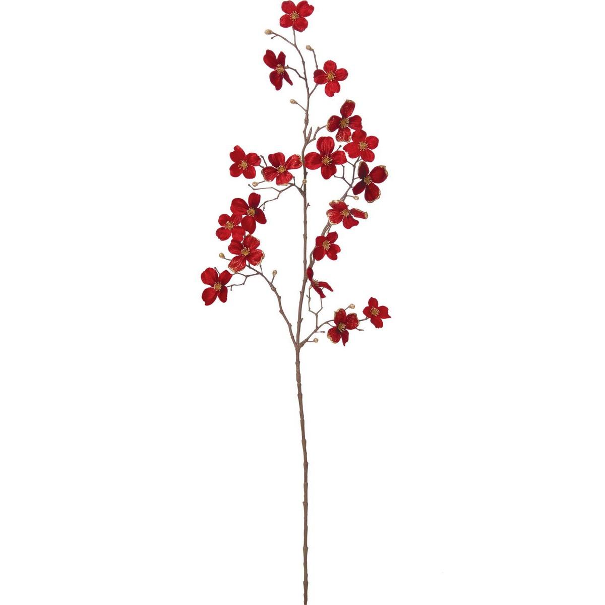 【造花】YDM/ベルベットドッグウッドブランチ/FS-5271R【01】【取寄】《 造花(アーティフィシャルフラワー) 造花 花材「ま行」 モクレン(木蓮)・マグノリア 》