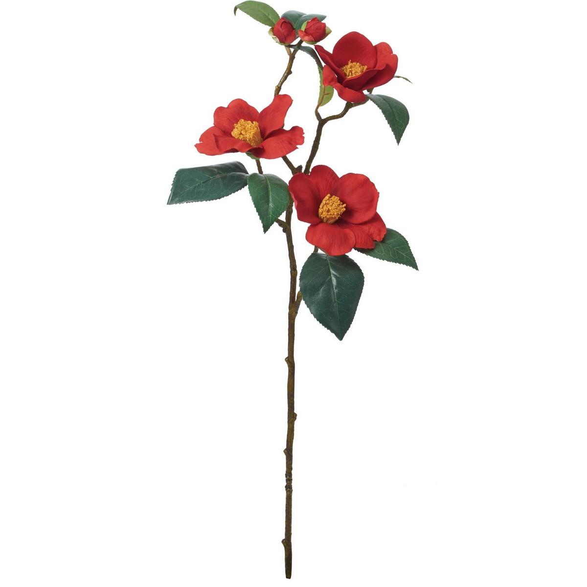 【造花】YDM/ツバキスプレー/FS-5277R【01】【01】【取寄】《 造花(アーティフィシャルフラワー) 造花 花材「た行」 ツバキ(椿) 》
