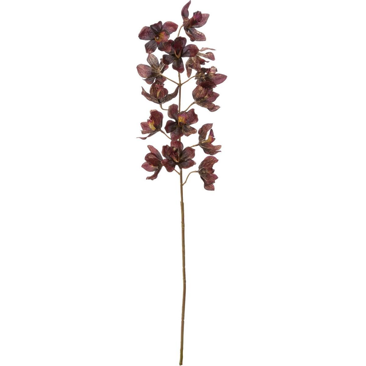 【造花】YDM/ブラッシュシンビジウム/FS-6018BUR【01】【取寄】《 造花(アーティフィシャルフラワー) 造花 花材「さ行」 シンビジューム 》