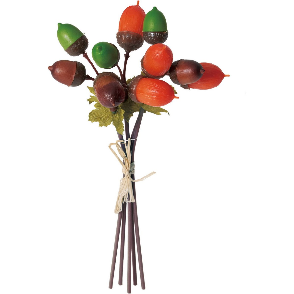 【造花】YDM/ドングリバンドル/FS-9046G/O【01】【01】【取寄】《 造花(アーティフィシャルフラワー) 造花実物、フェイクフルーツ 柿 》