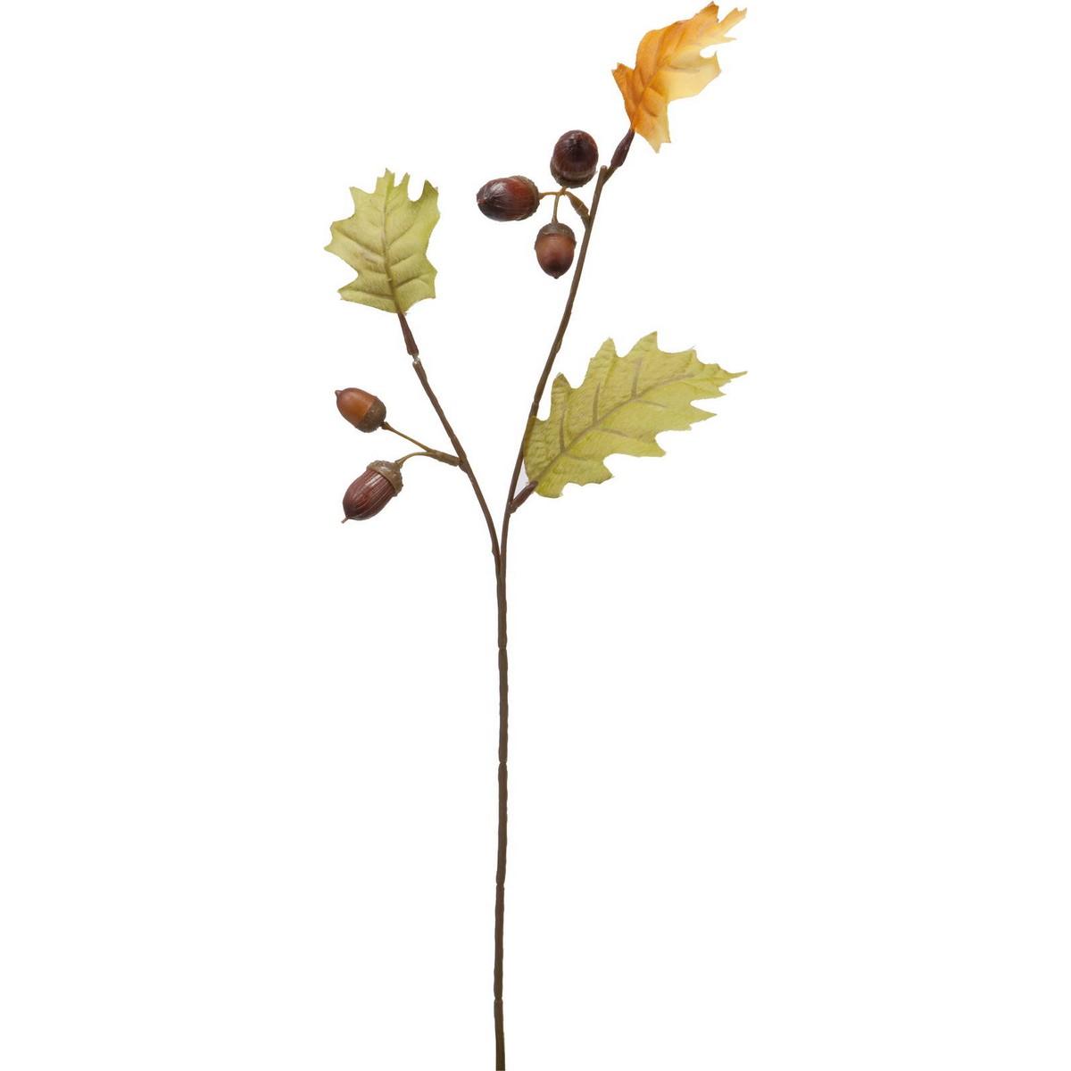 【造花】YDM/ドングリスプレー/FS-9056BR【01】【取寄】《 造花(アーティフィシャルフラワー) 造花実物、フェイクフルーツ 柿 》