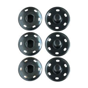 NBK/ビッグスナップボタン 3組 黒ニッケル/ISZ-21-BN【01】【取寄】手芸用品 ソーイング資材 ボタン 手作り 材料