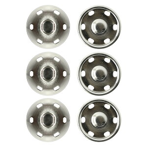 NBK/ビッグスナップボタン 3組 ニッケル/ISZ-25-S【07】【取寄】 手芸用品 ソーイング資材 ボタン 手作り 材料