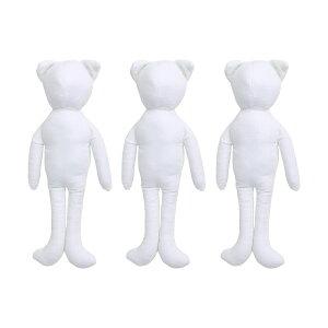 NBK/ドールチャーム ベースボディ ねこタイプ 3個入 ホワイト/P4-104-3【01】【取寄】