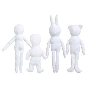 NBK/ドールチャーム ベースボディ 4種セット 各3個入 ホワイト/P4-DCMIX1【07】【取寄】 手芸用品 クラフト ドール用品 手作り 材料