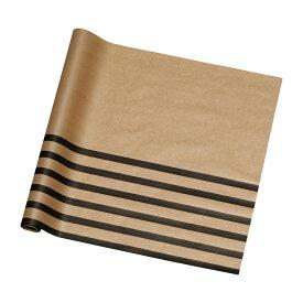 東京リボン/ゼスラインペーパー 60×20 NO.003 クラフト/ブラック/36-66005-3【01】【取寄】《 ラッピング用品 ・梱包資材 ラッピングペーパー(包装紙) 包装紙(ロール) 》